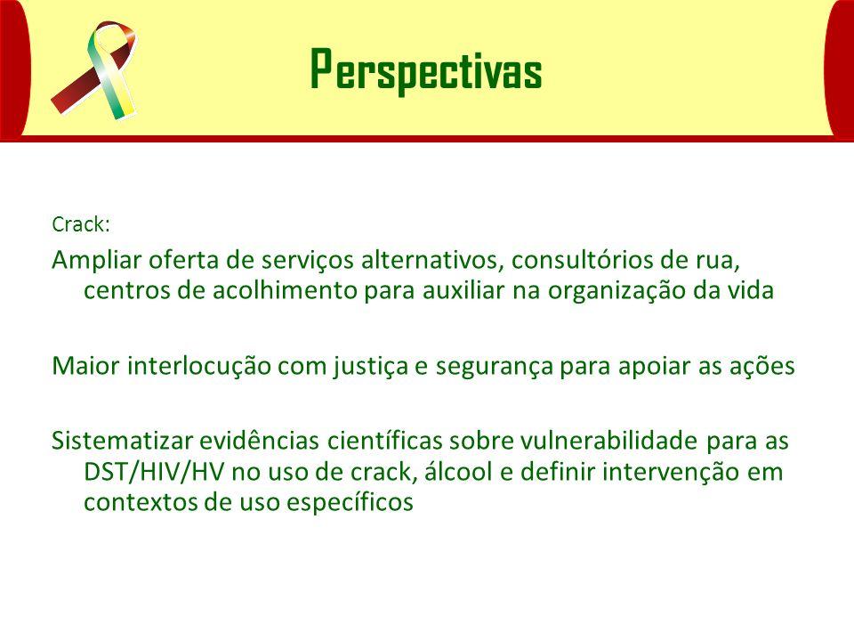 Perspectivas Crack: Ampliar oferta de serviços alternativos, consultórios de rua, centros de acolhimento para auxiliar na organização da vida Maior in