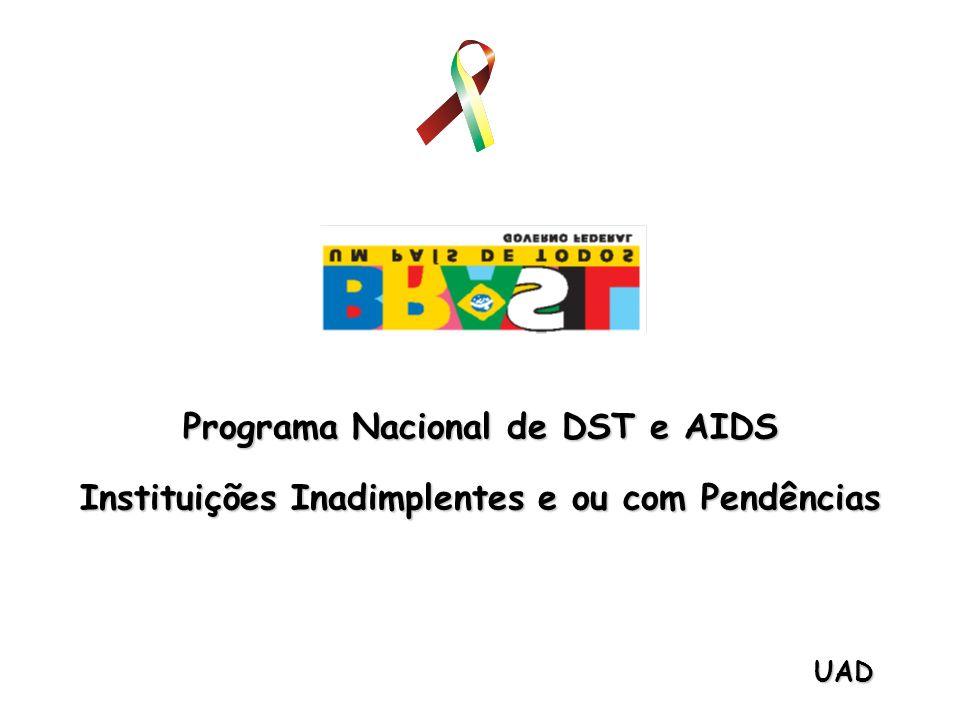 UAD Programa Nacional de DST e AIDS Instituições Inadimplentes e ou com Pendências