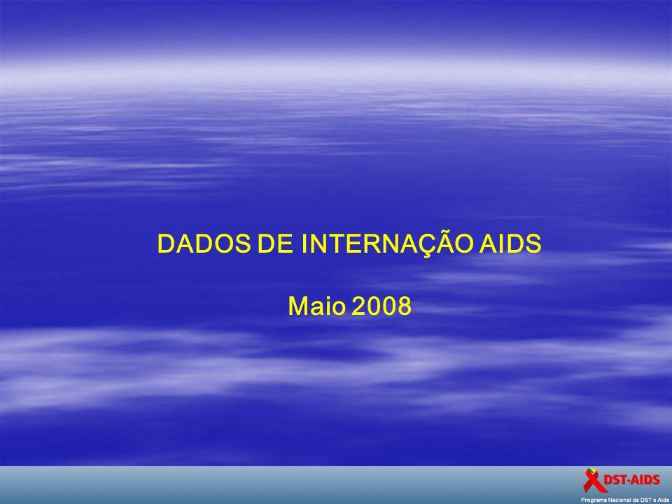 DADOS DE INTERNAÇÃO AIDS Maio 2008