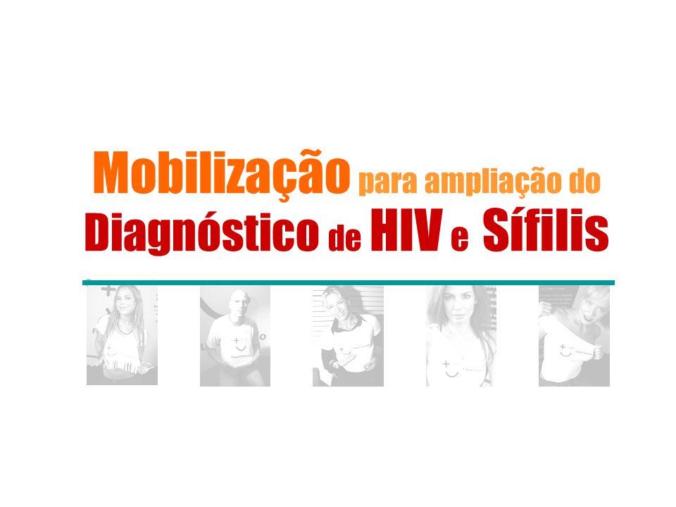 Mobilização para ampliação do Diagnóstico de HIV e Sífilis