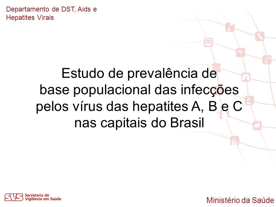 Departamento de DST, Aids e Hepatites Virais Estudo de prevalência de base populacional das infecções pelos vírus das hepatites A, B e C nas capitais