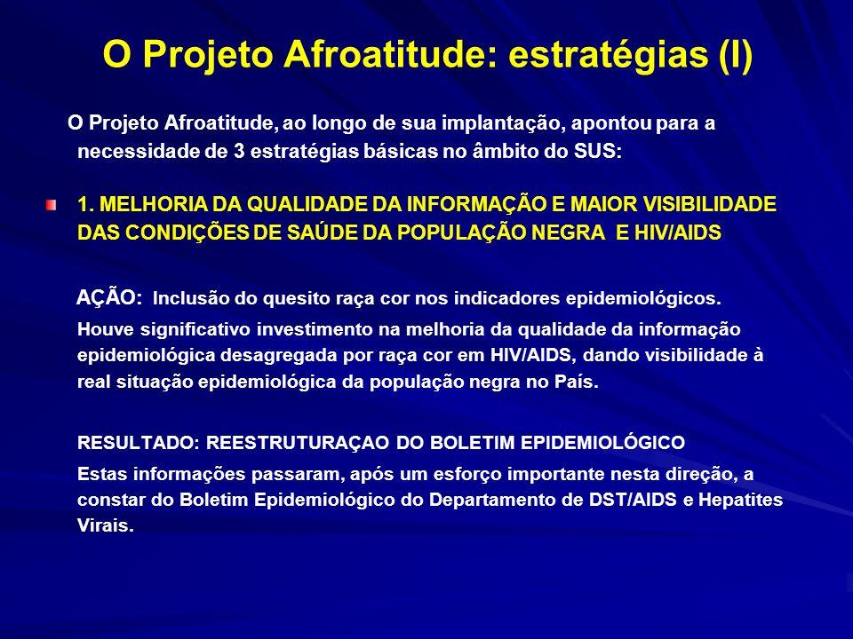 O Projeto Afroatitude: estratégias (II) 2.