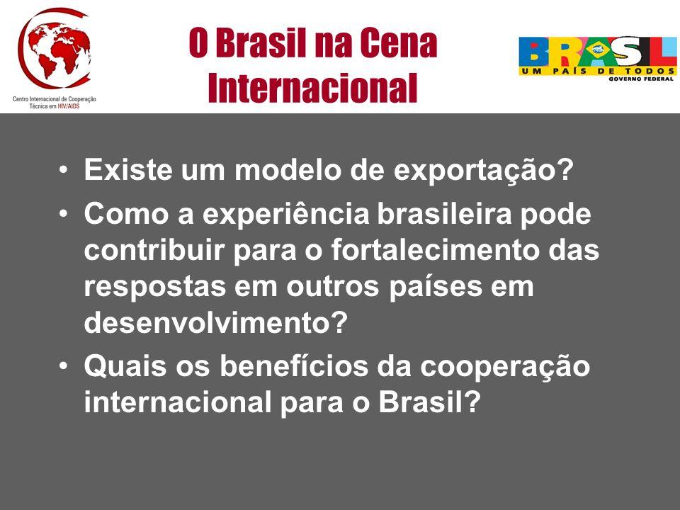 O Brasil na Cena Internacional Existe um modelo de exportação? Como a experiência brasileira pode contribuir para o fortalecimento das respostas em ou