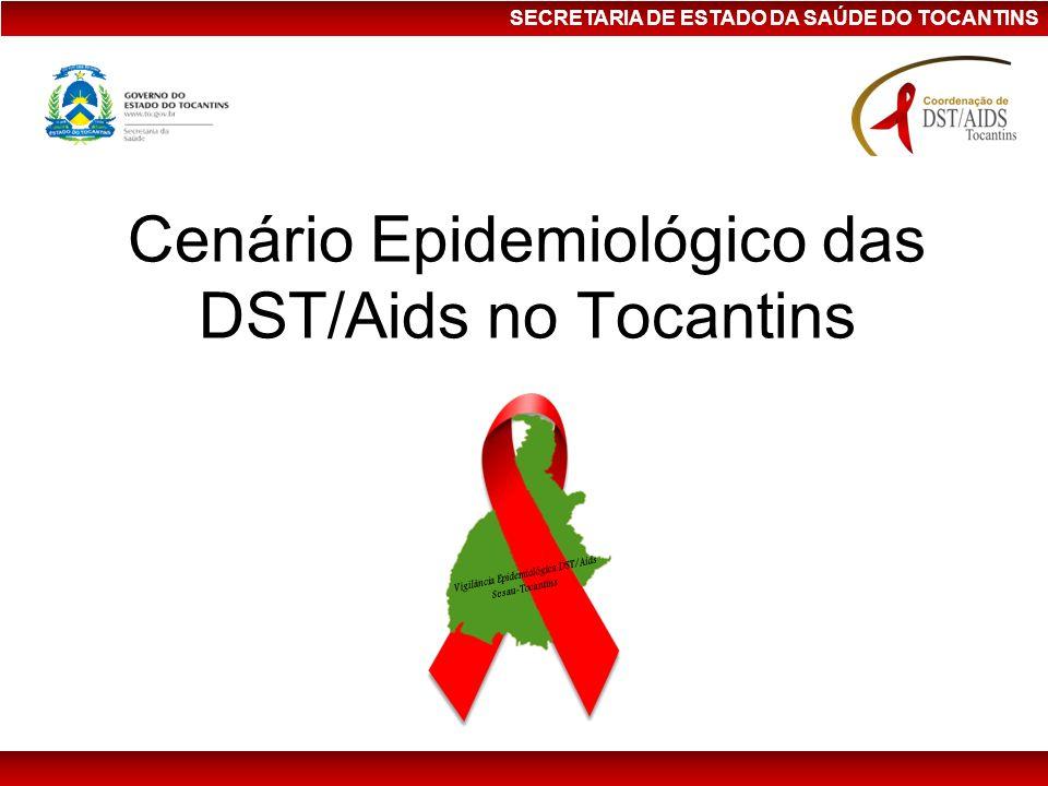 SECRETARIA DE ESTADO DA SAÚDE DO TOCANTINS Cenário Epidemiológico das DST/Aids no Tocantins