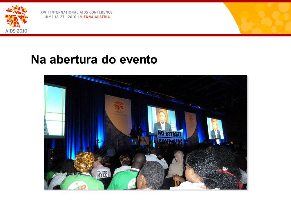 Na abertura do evento
