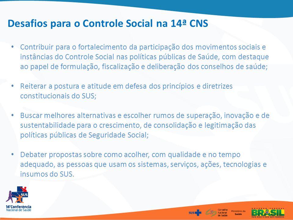 Contribuir para o fortalecimento da participação dos movimentos sociais e instâncias do Controle Social nas políticas públicas de Saúde, com destaque