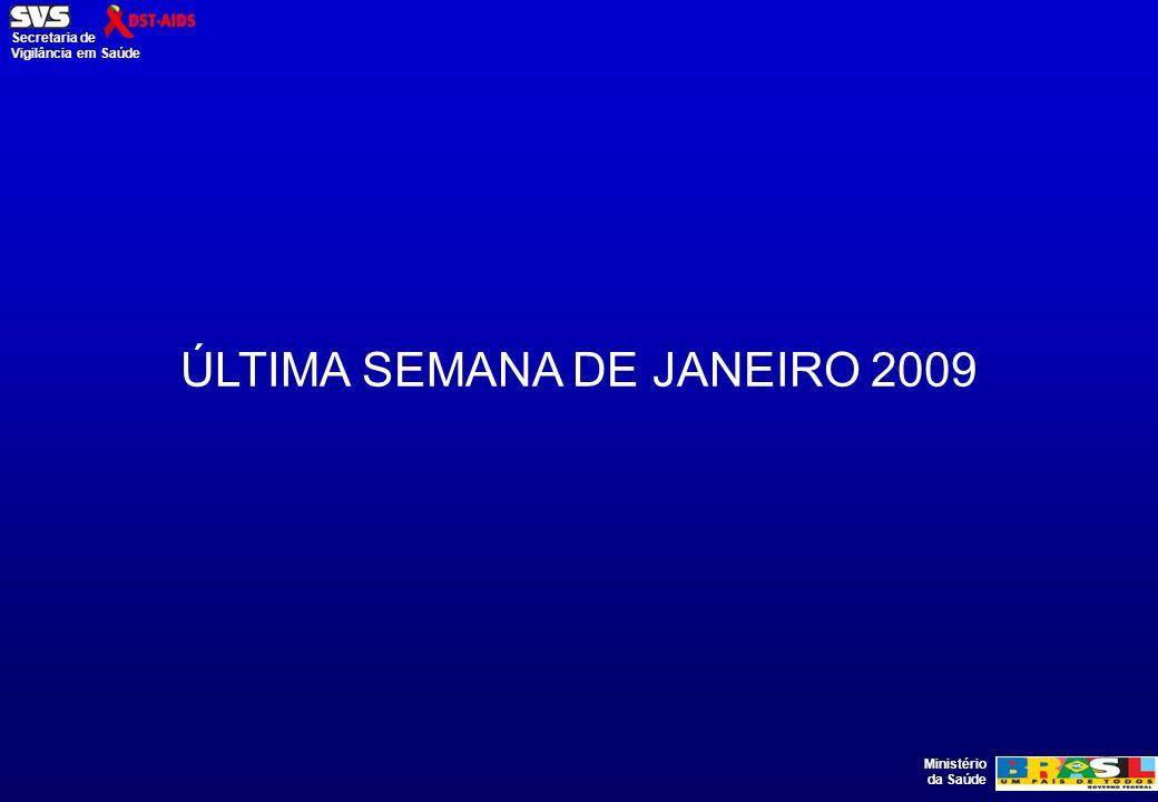 Ministério da Saúde Secretaria de Vigilância em Saúde ÚLTIMA SEMANA DE JANEIRO 2009
