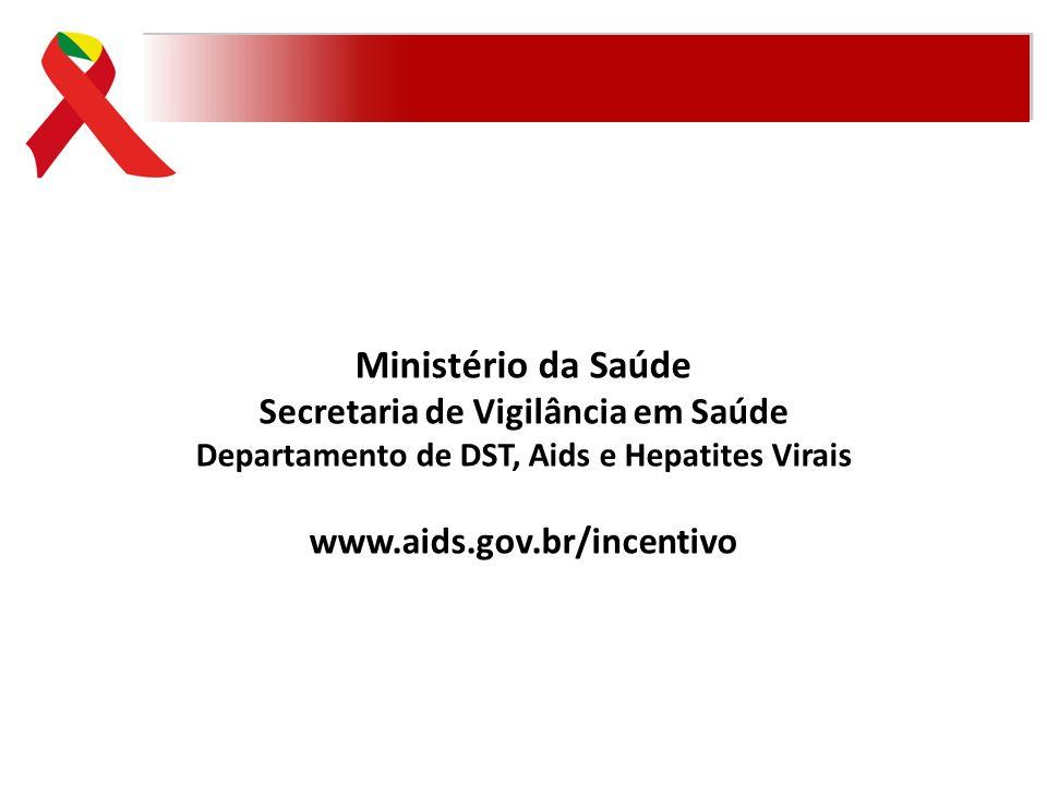 Ministério da Saúde Secretaria de Vigilância em Saúde Departamento de DST, Aids e Hepatites Virais www.aids.gov.br/incentivo