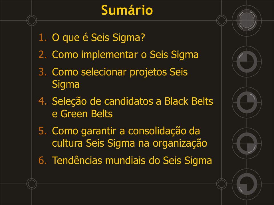 3 – Como selecionar projetos Seis Sigma Prazos dos projetos: l Médio Prazo – quatro a seis meses.
