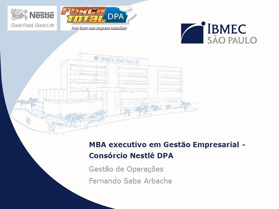 MBA executivo em Gestão Empresarial - Consórcio Nestlé DPA Gestão de Operações Fernando Saba Arbache
