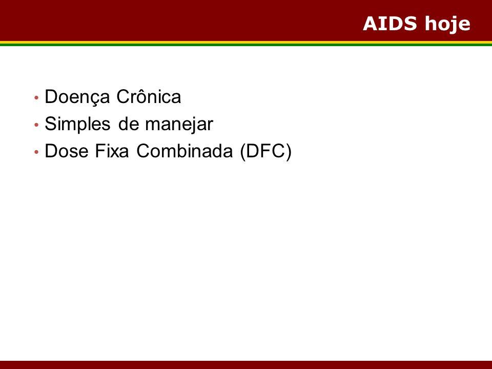 AIDS hoje Doença Crônica Simples de manejar Dose Fixa Combinada (DFC)