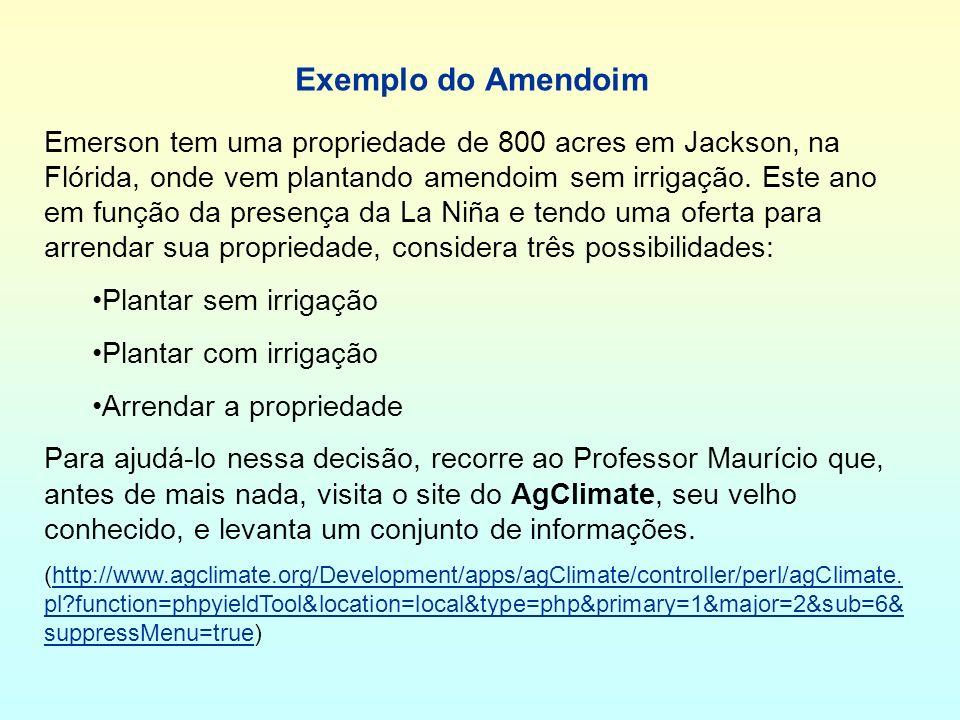 Exemplo do Amendoim Emerson tem uma propriedade de 800 acres em Jackson, na Flórida, onde vem plantando amendoim sem irrigação.