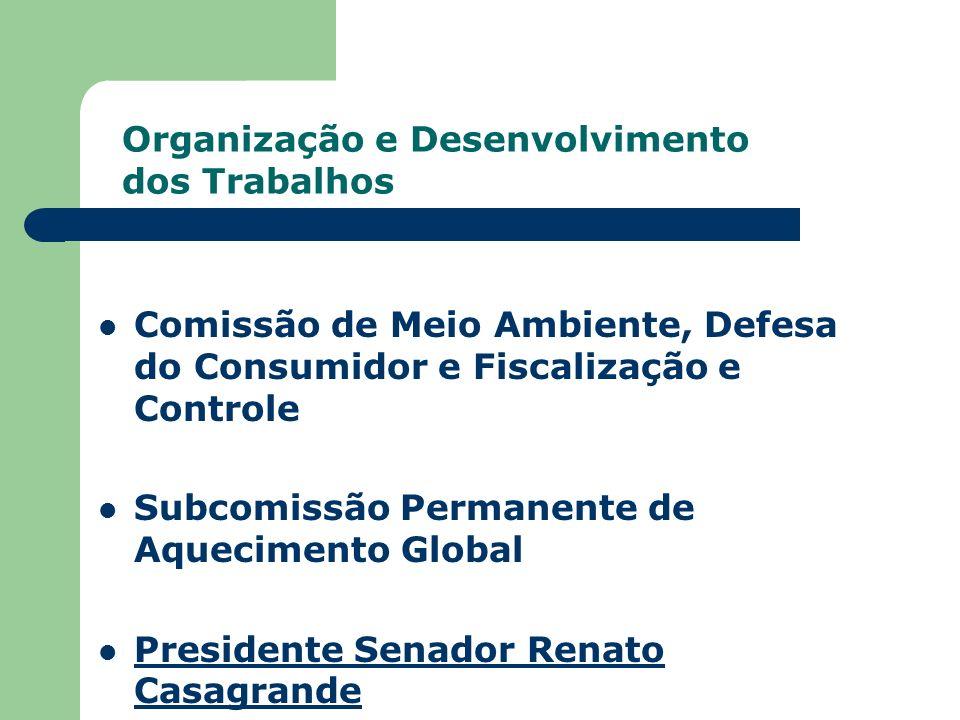 Comissão de Meio Ambiente, Defesa do Consumidor e Fiscalização e Controle Subcomissão Permanente de Aquecimento Global Presidente Senador Renato Casag