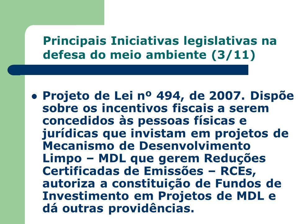 Projeto de Lei nº 494, de 2007. Dispõe sobre os incentivos fiscais a serem concedidos às pessoas físicas e jurídicas que invistam em projetos de Mecan