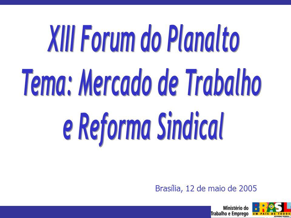 MINISTÉRIO DO TRABALHO E EMPREGO Brasília, 12 de maio de 2005