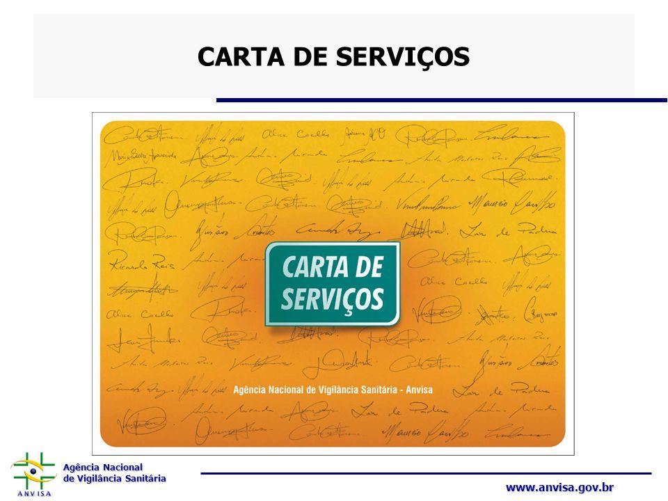 Agência Nacional de Vigilância Sanitária www.anvisa.gov.br CARTA DE SERVIÇOS