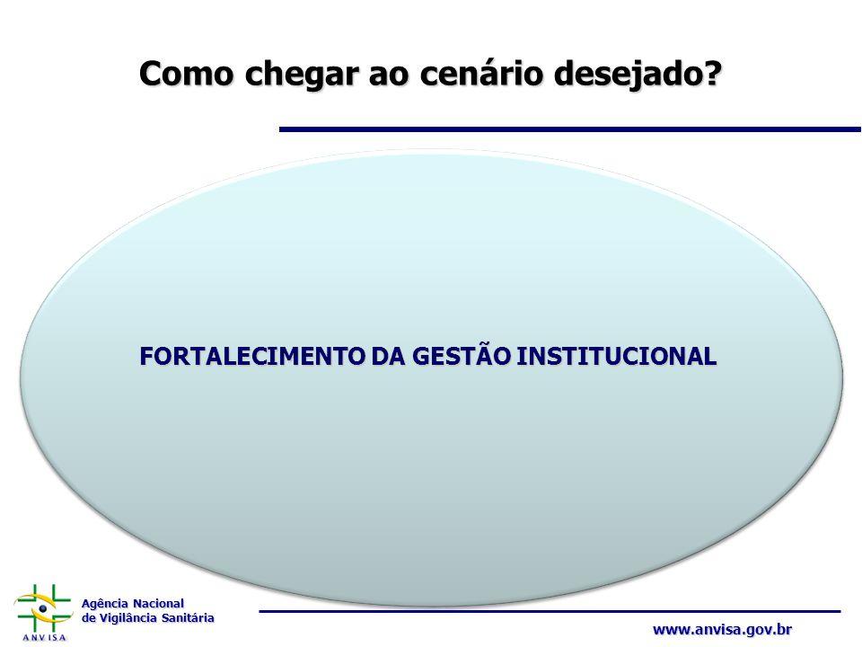Agência Nacional de Vigilância Sanitária www.anvisa.gov.br Como chegar ao cenário desejado? FORTALECIMENTO DA GESTÃO INSTITUCIONAL