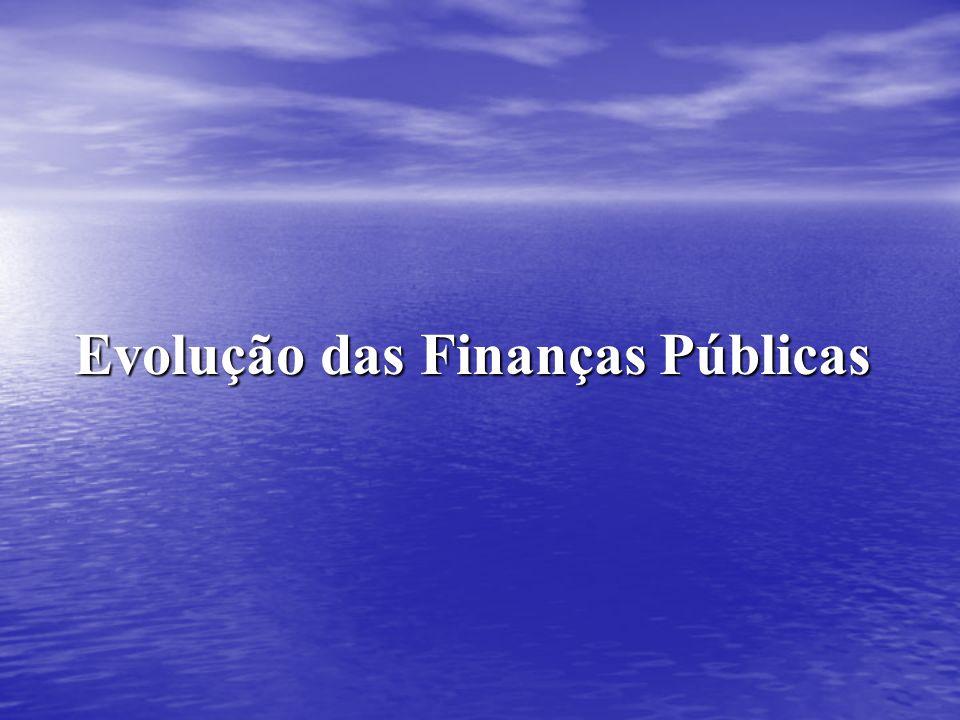 Evolução das Finanças Públicas