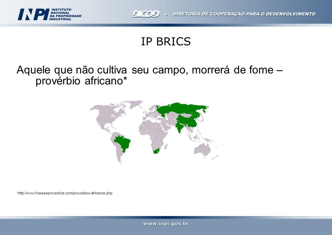 IP BRICS Aquele que não cultiva seu campo, morrerá de fome – provérbio africano* *http://www.fraseseproverbios.com/proverbios-africanos.php