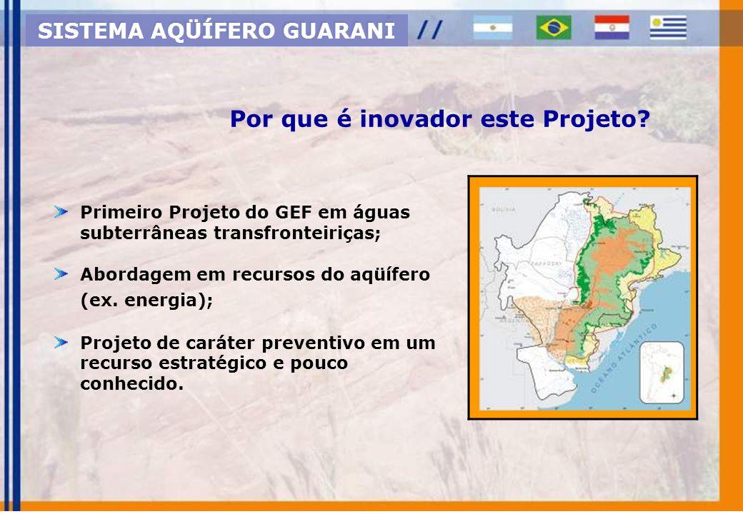 Projetos Pilotos SAG GEF / Banco Mundial / OEA SISTEMA AQÜÍFERO GUARANI