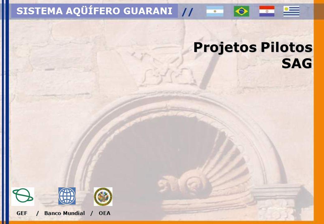 Concentração de usos e pesquisas Projeto Piloto Ribeirão Preto SISTEMA AQÜÍFERO GUARANI