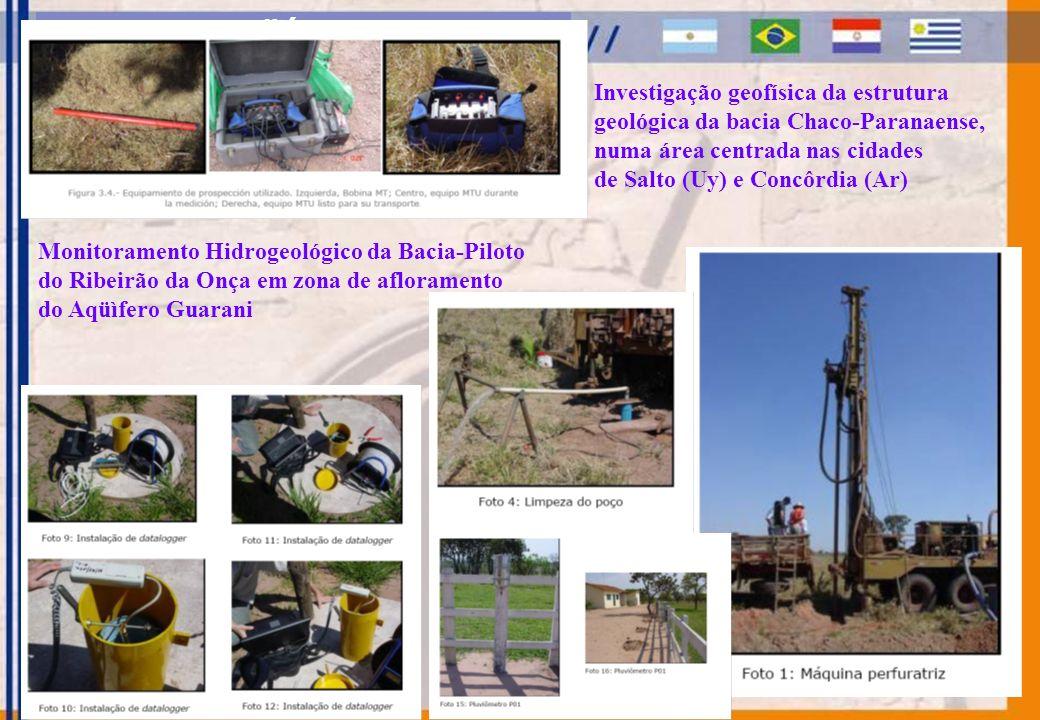 SISTEMA AQÜÍFERO GUARANI Investigação geofísica da estrutura geológica da bacia Chaco-Paranaense, numa área centrada nas cidades de Salto (Uy) e Concô