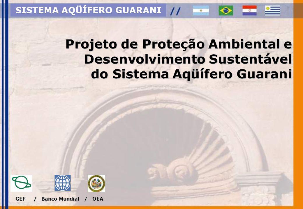 Objetivo Apoiar a Argentina, Brasil, Paraguai e Uruguai na elaboração conjunta e implementação coordenada de estrutura institucional para a gestão e preservação do Sistema Aqüífero Guarani Transfronteiriço para as gerações presente e futuras.