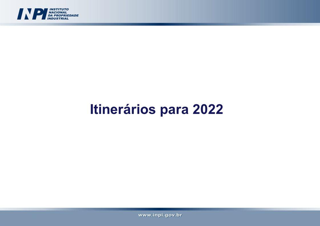 Itinerários para 2022