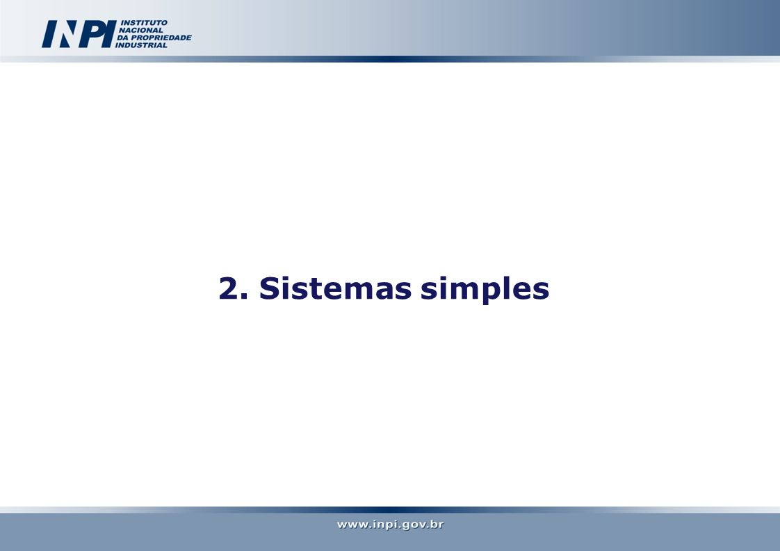 2. Sistemas simples