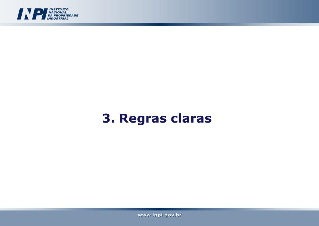 3. Regras claras