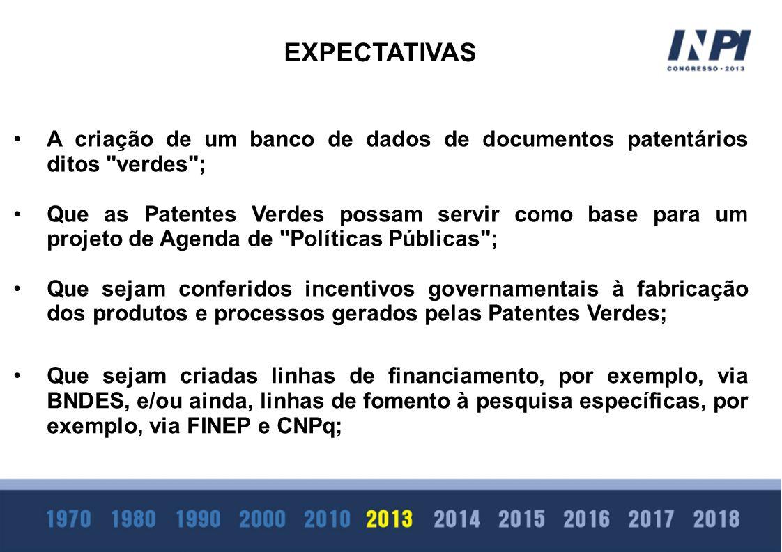 A criação de um banco de dados de documentos patentários ditos