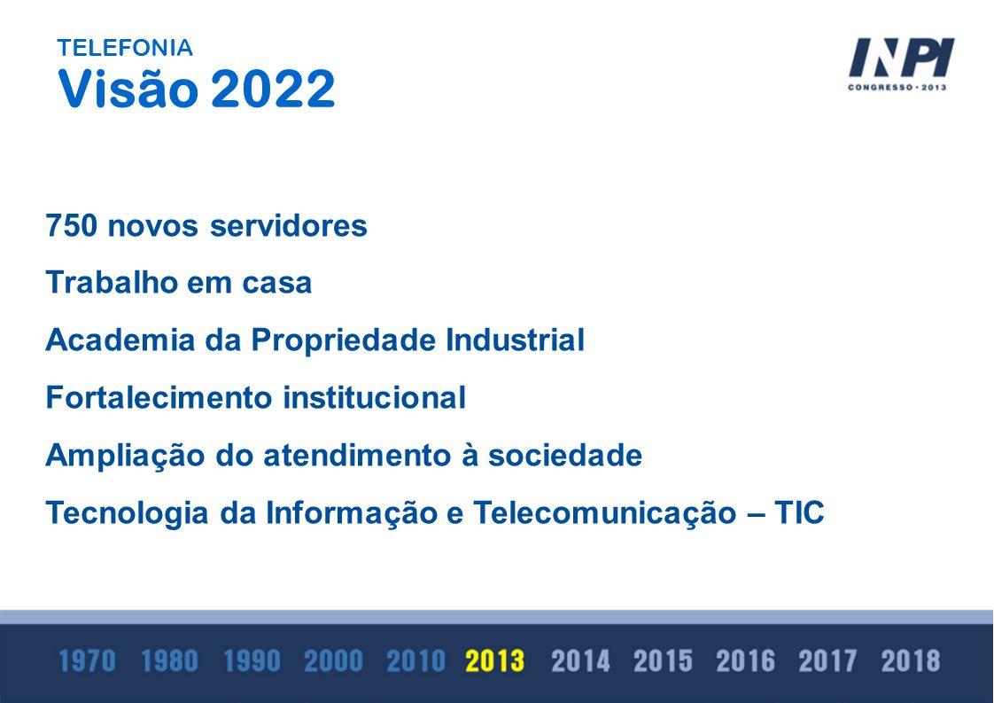 750 novos servidores Trabalho em casa Academia da Propriedade Industrial Fortalecimento institucional Ampliação do atendimento à sociedade Tecnologia