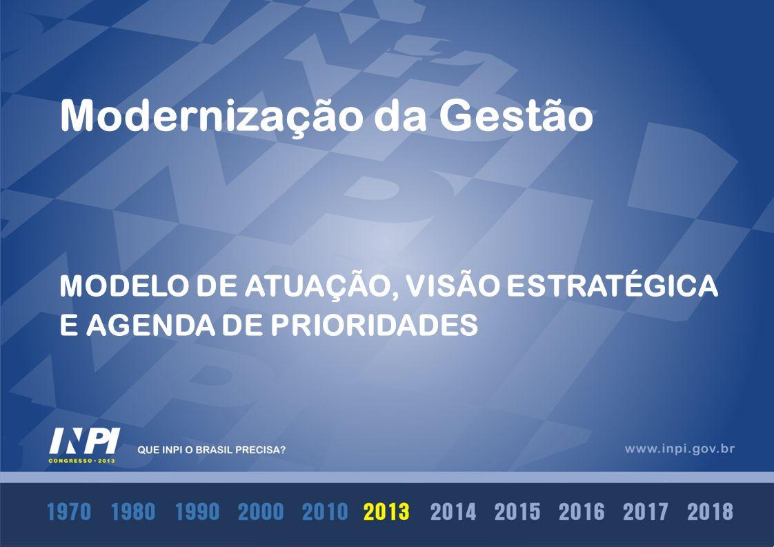 Modernização da Gestão MODELO DE ATUAÇÃO, VISÃO ESTRATÉGICA E AGENDA DE PRIORIDADES