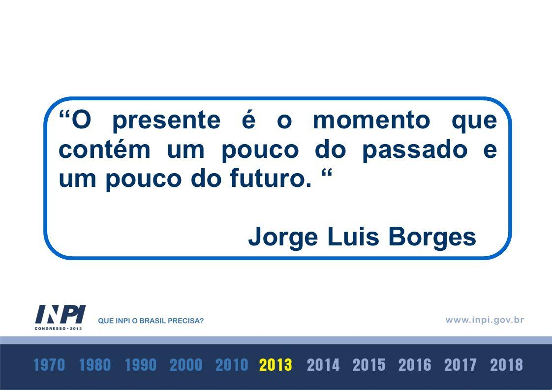 O presente é o momento que contém um pouco do passado e um pouco do futuro. Jorge Luis Borges