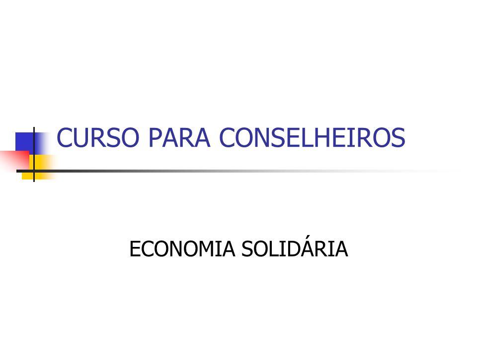 CURSO PARA CONSELHEIROS ECONOMIA SOLIDÁRIA