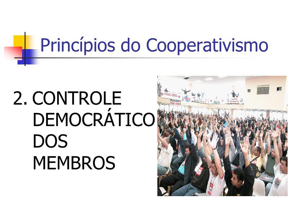 Princípios do Cooperativismo 2. CONTROLE DEMOCRÁTICO DOS MEMBROS