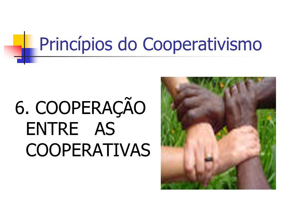 Princípios do Cooperativismo 6. COOPERAÇÃO ENTRE AS COOPERATIVAS