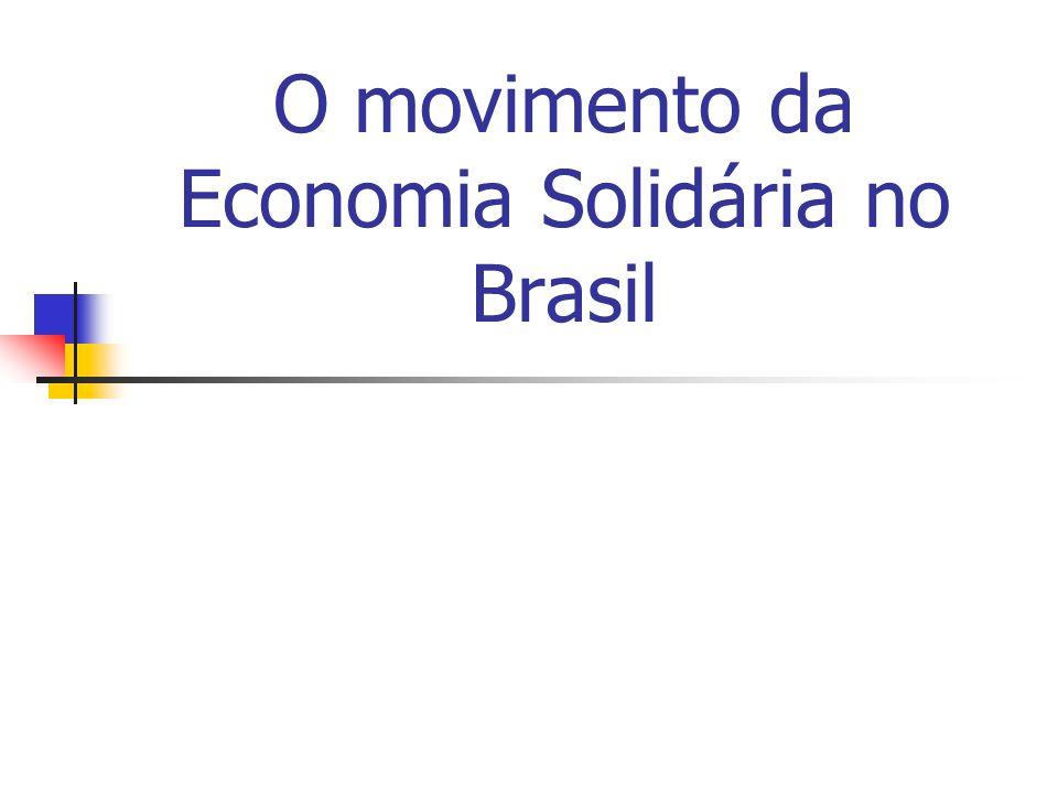 O movimento da Economia Solidária no Brasil