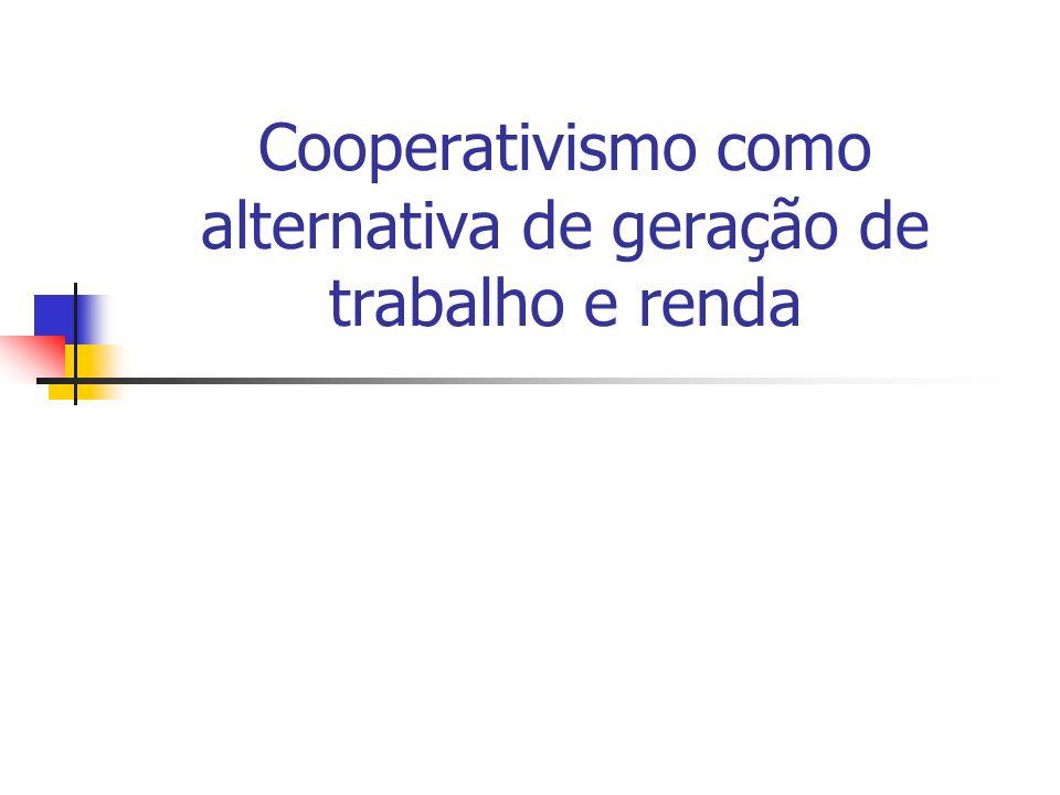 Cooperativismo como alternativa de geração de trabalho e renda
