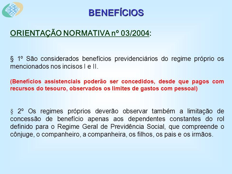 SALÁRIO-FAMÍLIA ORIENTAÇÃO NORMATIVA nº 03/2004: Art.