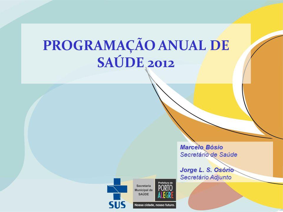 PROGRAMAÇÃO ANUAL DE SAÚDE 2012 Marcelo Bósio Secretário de Saúde Jorge L. S. Osório Secretário Adjunto