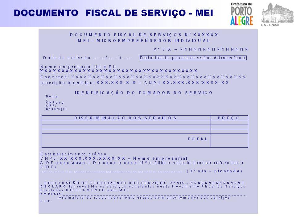 DOCUMENTO FISCAL DE SERVIÇO - MEI