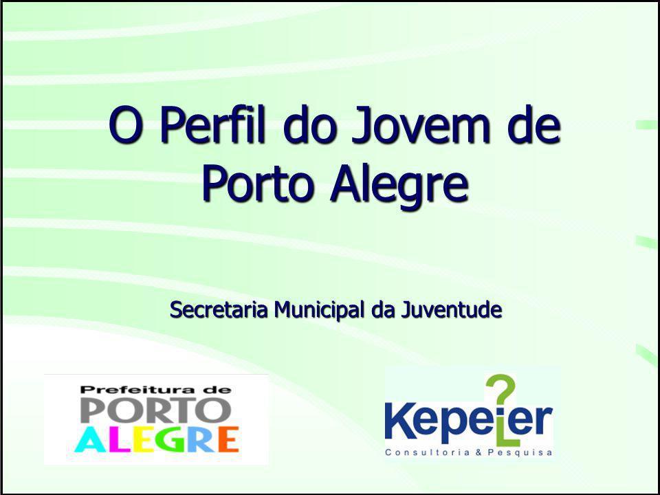 O Perfil do Jovem de Porto Alegre Secretaria Municipal da Juventude