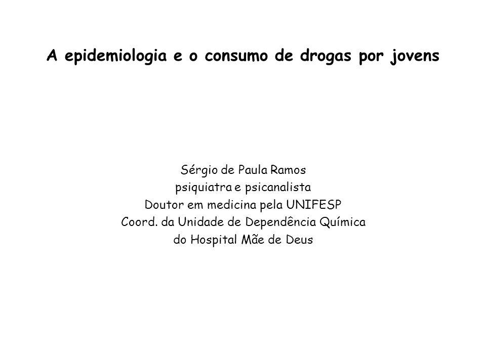 A epidemiologia e o consumo de drogas por jovens Sérgio de Paula Ramos psiquiatra e psicanalista Doutor em medicina pela UNIFESP Coord. da Unidade de