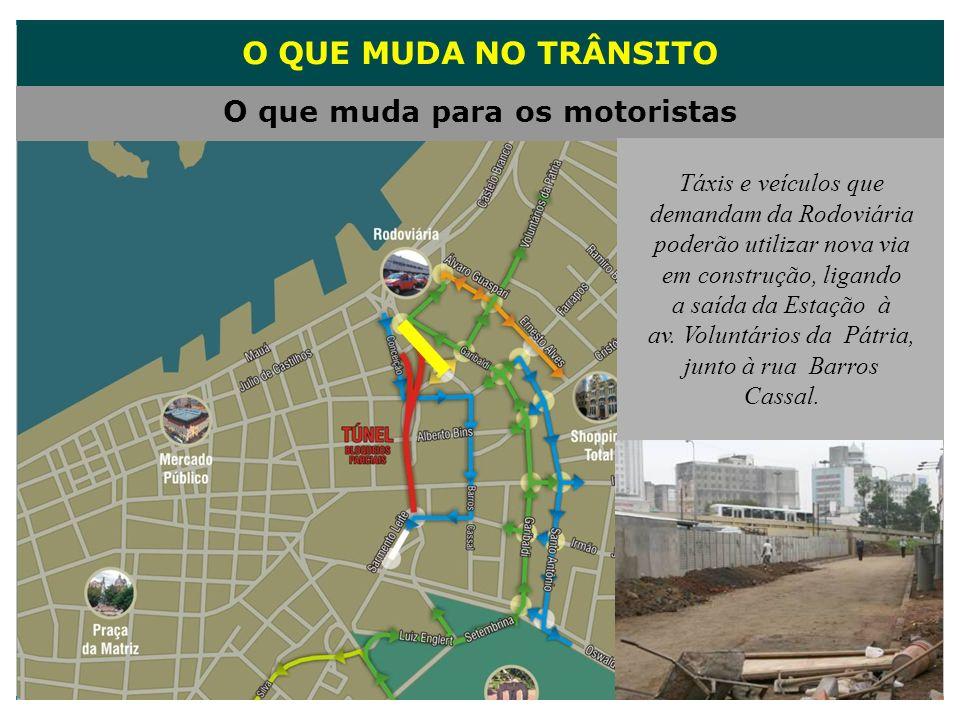 O QUE MUDA NO TRÂNSITO O que muda para os motoristas Táxis e veículos que demandam da Rodoviária poderão utilizar nova via em construção, ligando a sa