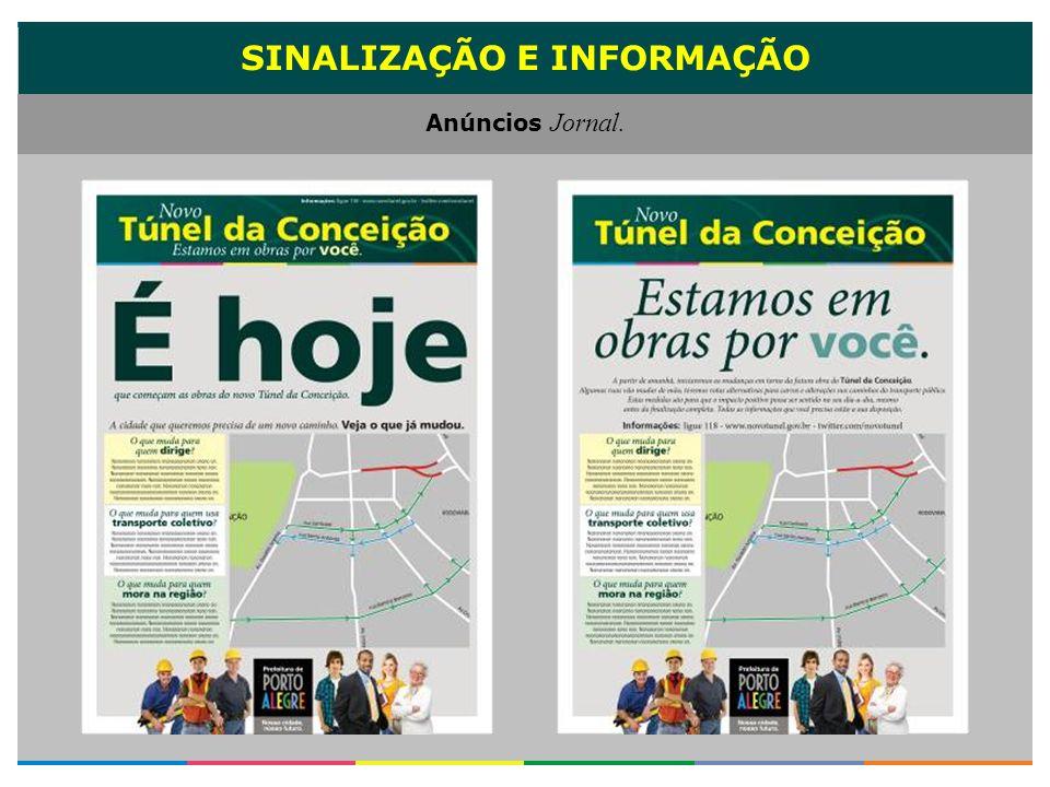 SINALIZAÇÃO E INFORMAÇÃO Anúncios Jornal.