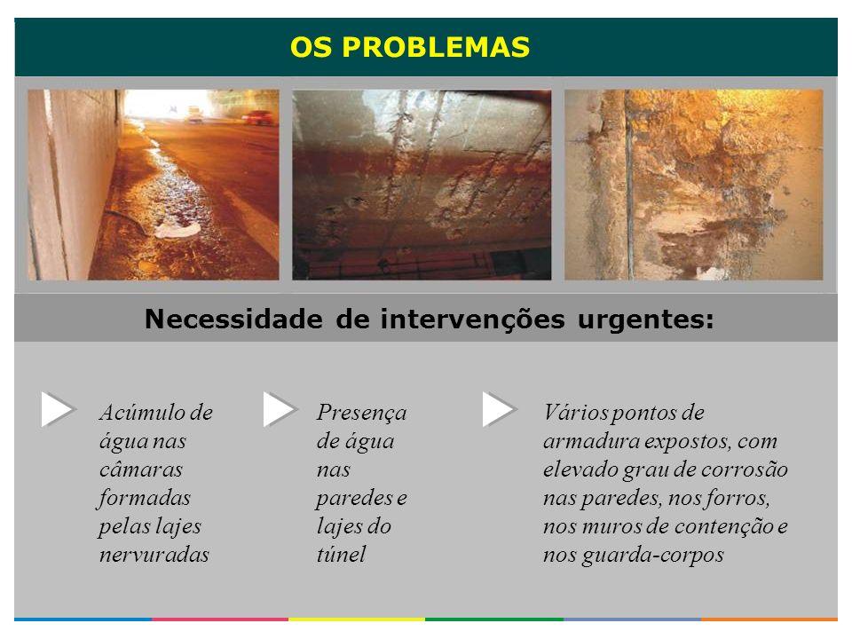 OS PROBLEMAS Fissuras e trincas nas lajes do forro, paredes e muros Falhas de concretagem Lixiviação do concreto (decomposição e fragmentação do concreto por efeito das chuvas).