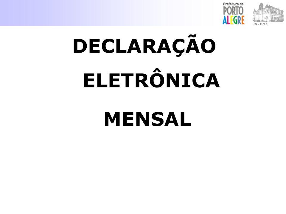 DECLARAÇÃO ELETRÔNICA MENSAL