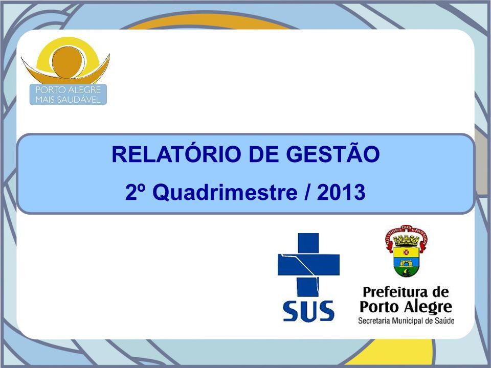 RELATÓRIO DE GESTÃO 2º Quadrimestre / 2013
