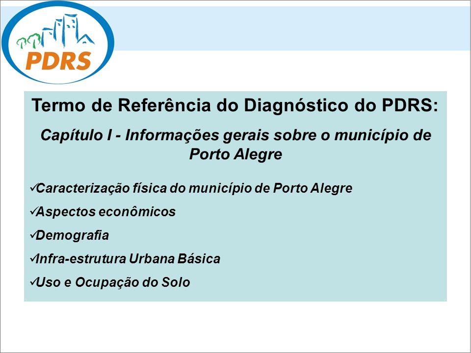 Termo de Referência do Diagnóstico do PDRS: Capítulo I - Informações gerais sobre o município de Porto Alegre Caracterização física do município de Po